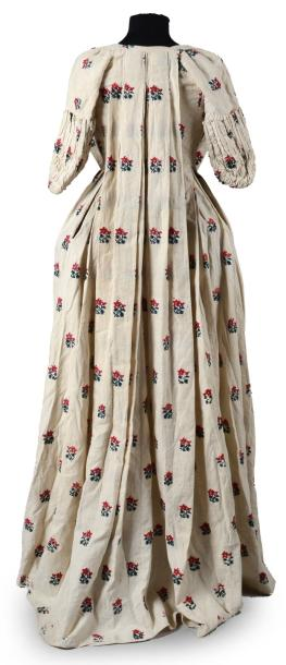 Manteau de robe à la française, époque Louis XVI