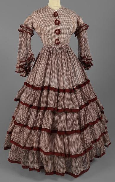 Robe vers 1850