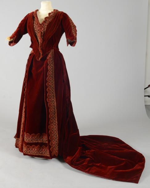 Robe de bal, vers 1880