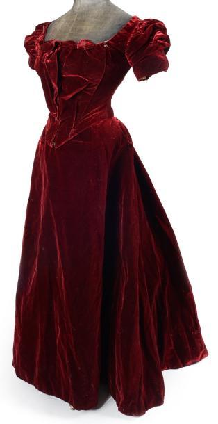 Robe du soir, griffée J. Erades Paris, fin du XIXème siècle
