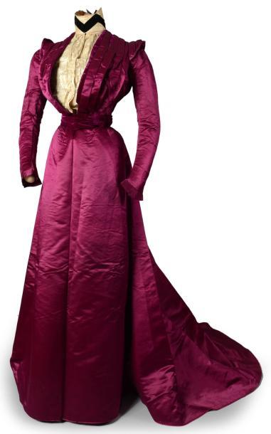 Robe du soir à deux corsages griffée Craignac Toulouse-Paris, vers 1900