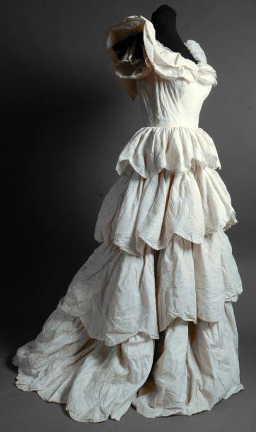 Robe de bal griffée Vogue, Paris Sao-Paulo, vers 1950
