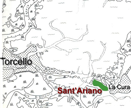 Carte de cette région de la lagune