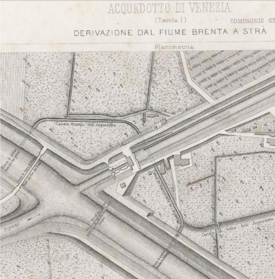 Canal de dérivation sur la Brenta