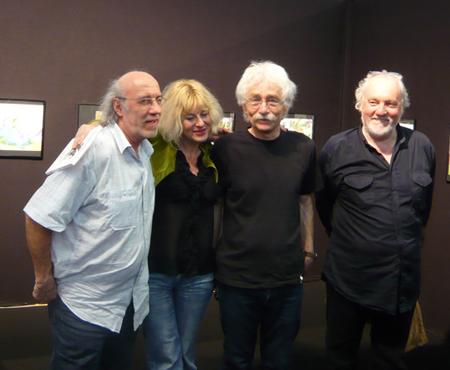 Derib, Silvina Pratt, Michel Jans de Mosquito et Lele Vianello à Grenoble en mai 2011