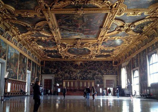 Interno della Sala del Maggior Consiglio - Palazzo Ducale, Venezia
