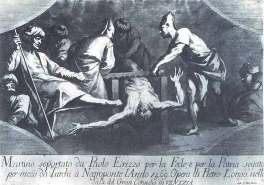 Le martyre de Paolo Erizzo