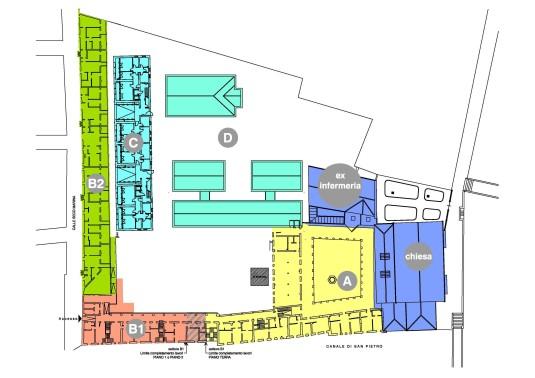Planimetrie de l'ex couvent Sant'Anna