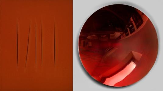 LUCIO FONTANA, Concetto spaziale, Attese, 1967. Collezione Stephen Robert e Pilar Crespi Robert © Fondazione Lucio Fontana, Milano