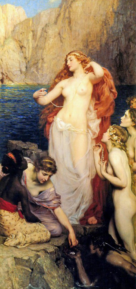 Les perles d'Aphrodite - Herbert James Draper