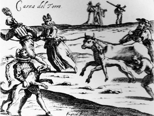 Chasse au taureau par Giacomo Franco