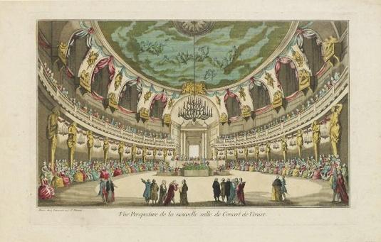 Vue Perspective de la nouvelle salle de Concert de Venise