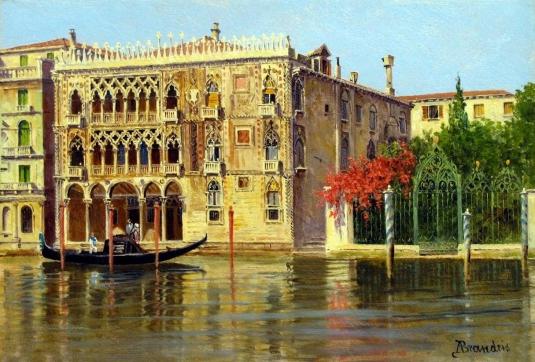 """A Pair 'palazzo Ca D'oro, Venice' And 'a Venetian (1215х823) - Antonietta Brandeis"""