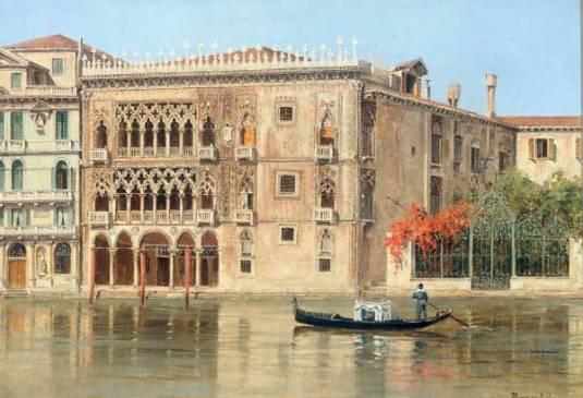 """""""The Ca'd'oro, Venice (600х410) - Antonietta Brandeis"""""""