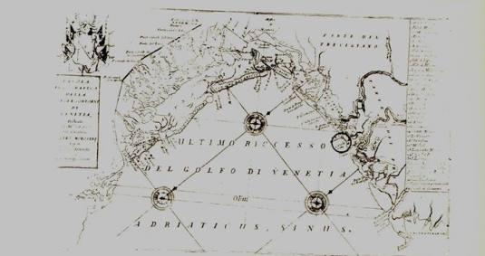 Carte de Coronelli du lieu où les pirates furent rattrapés par les vénitiens