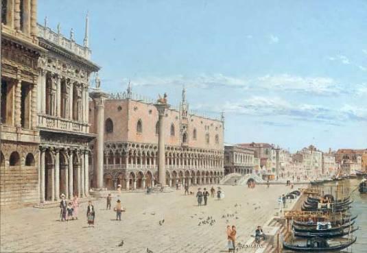 """The Doge's Palace, Venice (600х414) - Antonietta Brandeis"""