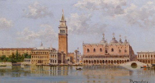 """The Doges Palace And Campanile Venice (2000х1076) - Antonietta Brandeis"""