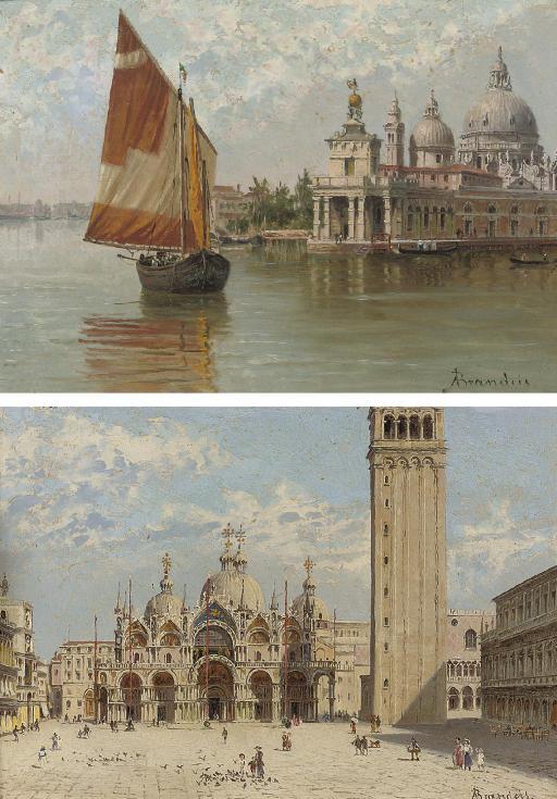 """He Doge's Palace, Venice; And St.Marks, Venice. (512х735) - Antonietta Brandeis"""