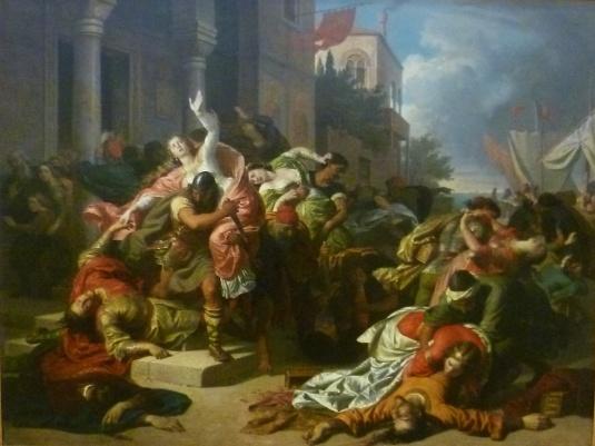 Raub der venezianischen Bräute durch istrianische Räuber, Carl von Blaas 1859