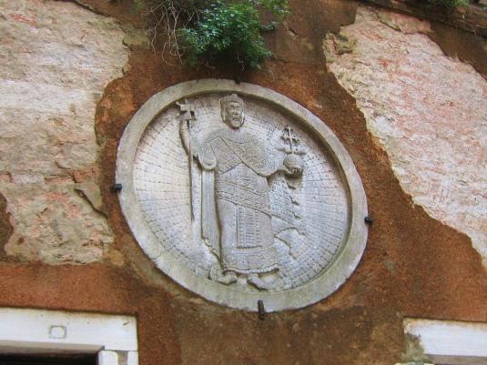 bas-relief byzantin du XIIème siècle représentant l'empereur Isaac II Ange ou son frère Alexis II