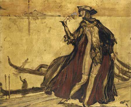 Jean-Gabriel Domergue (1889-1962) - Carnaval à Venise