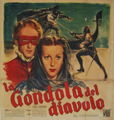 La gondola del diavolo - affiche originale de 1946