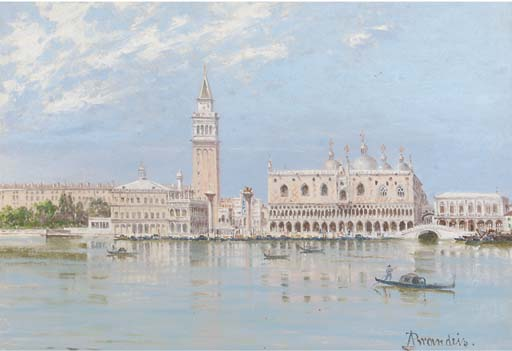 """The Piazza San Marco And The Doge's Palace, Venice (512х351) - Antonietta Brandeis"""