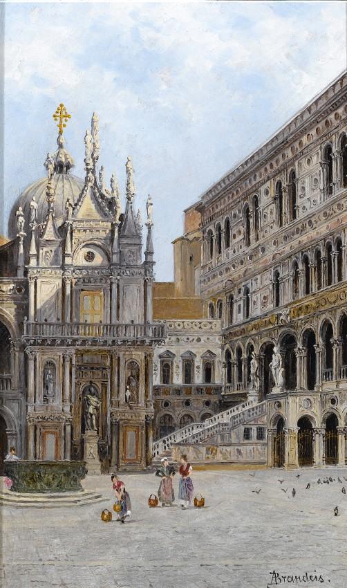 """Scala D'oro, Venice (502х850) - Antonietta Brandeis"""