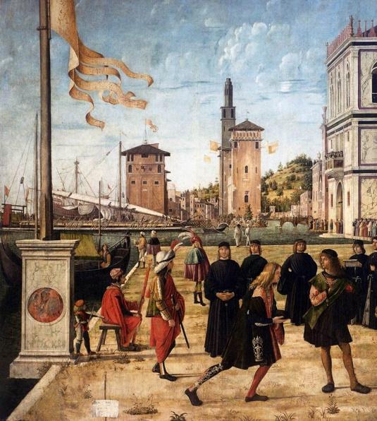 Vittore Carpaccio, Ritorno degli ambasciatori alla corte inglese