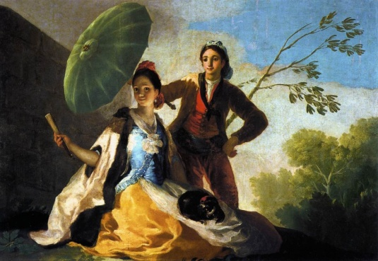 Francisco Goya. L'ombrelle/Le parasol. 1776-78