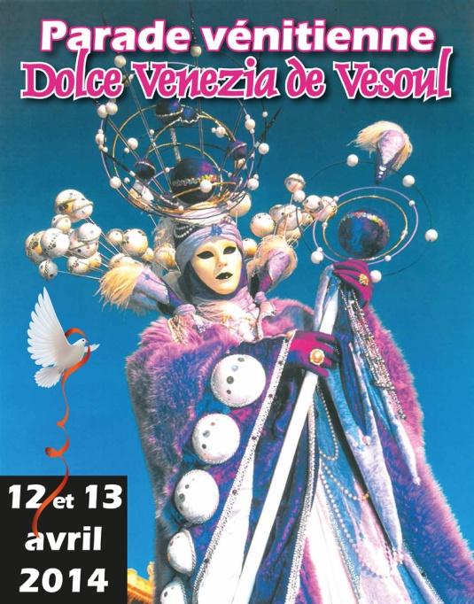 Affiche de la Parade Vénitienne à Vesoul 2014