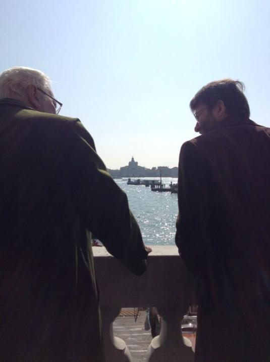Dario Franceschini à Venise, avec Paolo Baratta, président de la Biennale