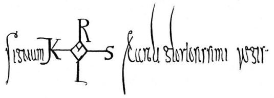 Signature de Charlemagne