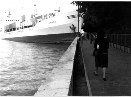 mai 1980, c'est le porte containers Afros qui défonce le quai des Giardini