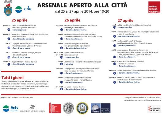 Arsenale 2014 programme