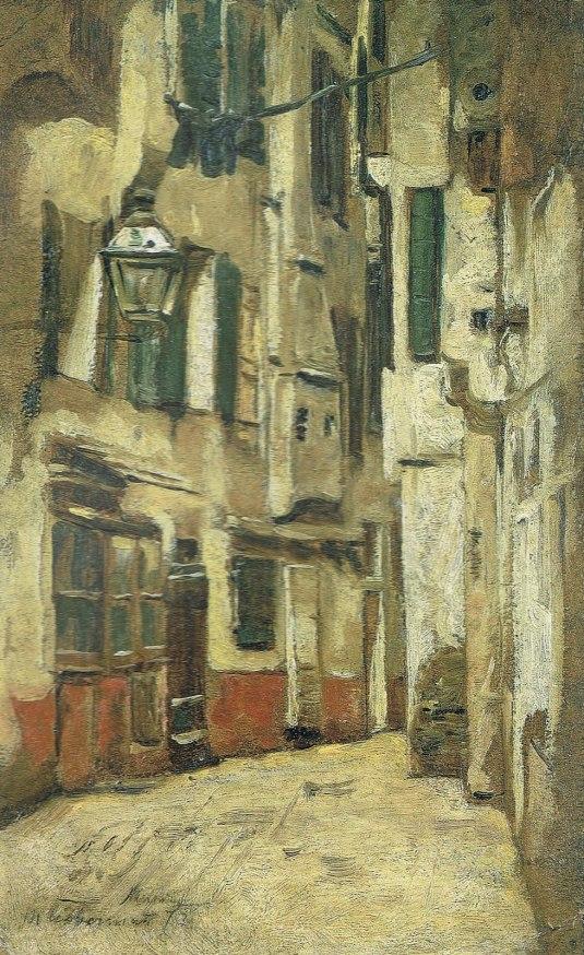 Venezianische Gasse nach rechts - 1878