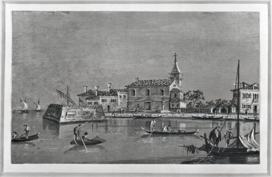 Poveglia, dessin de Francesco Guardi