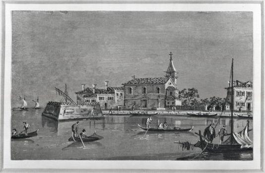 Poveglia, dessin de Francesco Guardi