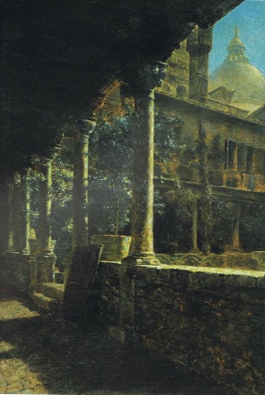 Kreuzgang der Abbazia San Gregorio - 1892