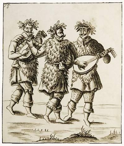 Pietro Bertelli : Musique jouée par des masques au Carnaval de Venise - 1642