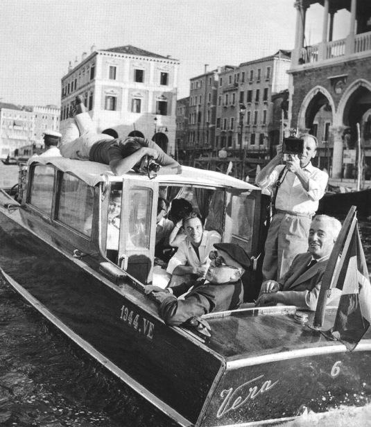 1961 - Cesare Zavattini et Vittorio De Sica à Venise