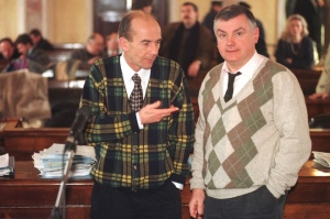 Giuseppe Segato est considéré comme l'ideologue de de ce groupe, on le voit ici avec Luigi Faccia.