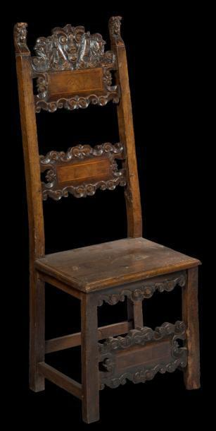 Chaise à haut dossier du XVIème