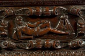 Cassone ou coffre de mariage du XVIème siècle