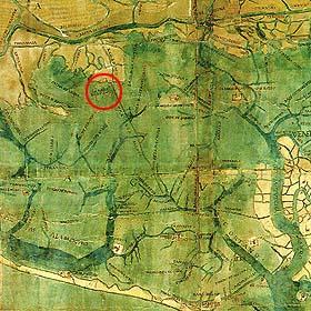 L'isola si San Marco in Boccalama sur une carte du XVIème siècle