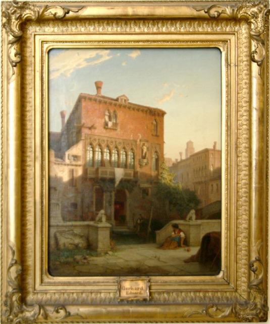 Der ehemalige Palazzo Moro in Venedig, 1863