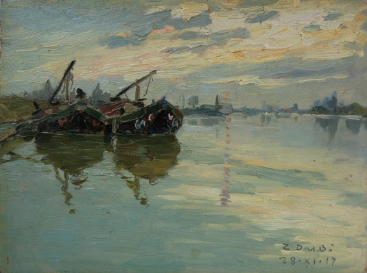 Bragozzi in Laguna a Venezia