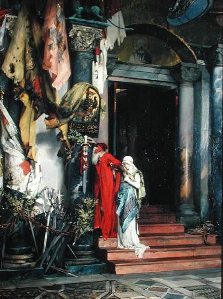 Amiral Carlo Zeno (1334-1418) 1878 (huile sur toile) par Maignan, Albert Pierre Rene (1845-1908) Musee des Beaux-Arts, Lille, France