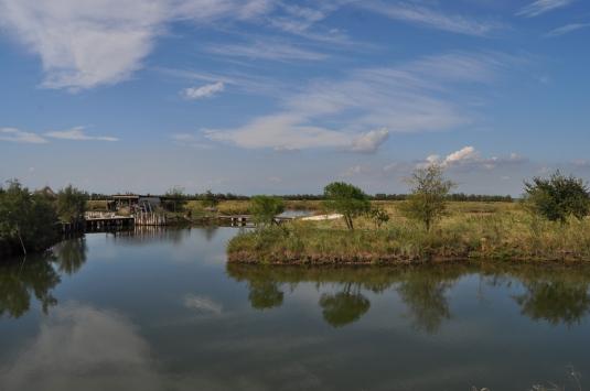 Valée d'élevage de poissons au nord de Torcello