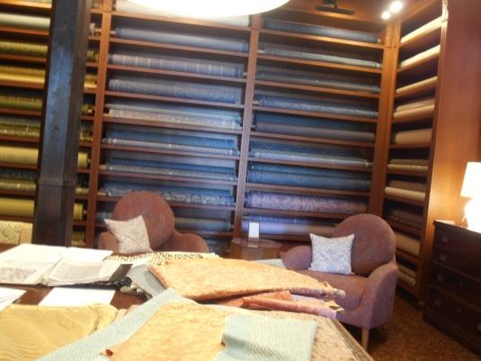 Showroom de la fabrique Fortuny à La Giudecca